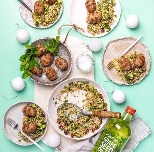 Lamb Kofte with Brown Rice Salad
