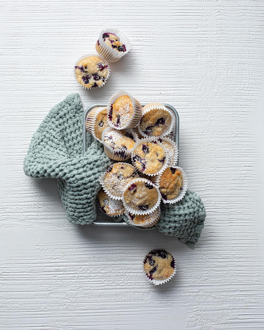 Blueberry, Lemon and Ricotta Muffins